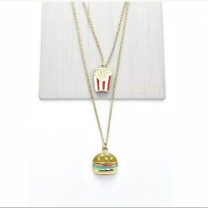 TOPSHOP BFF BURGER & FRIES NECKLACE SET SOLDOUT